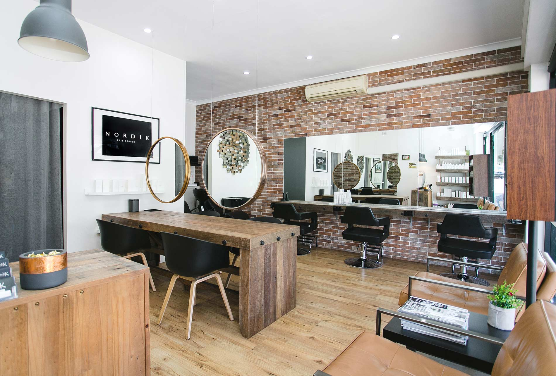 Beautiful salon interior - Nordik hair Studio Rose Bay